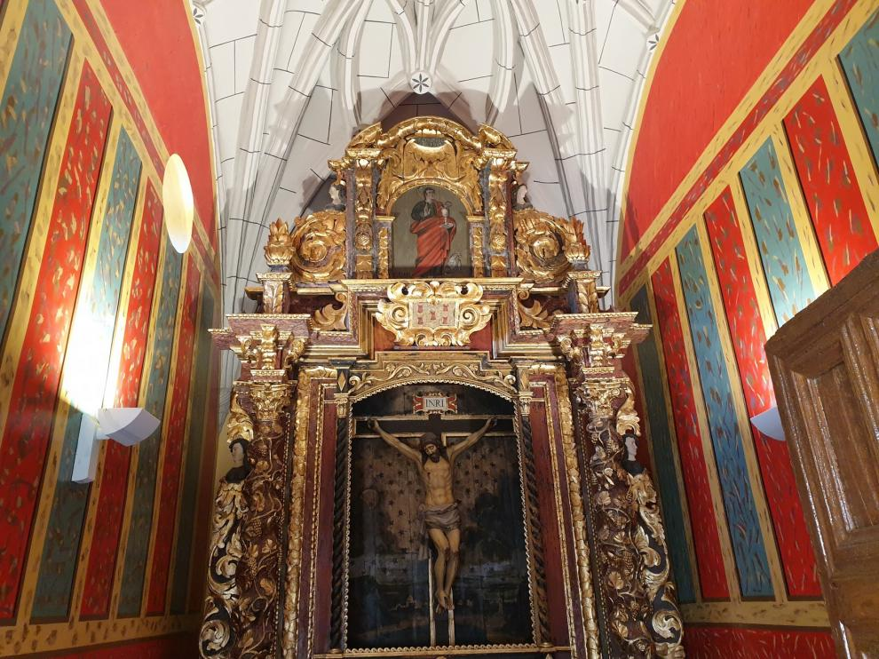 Restauran la capilla de San Juan de Letrán del santuario de la Peña de Graus