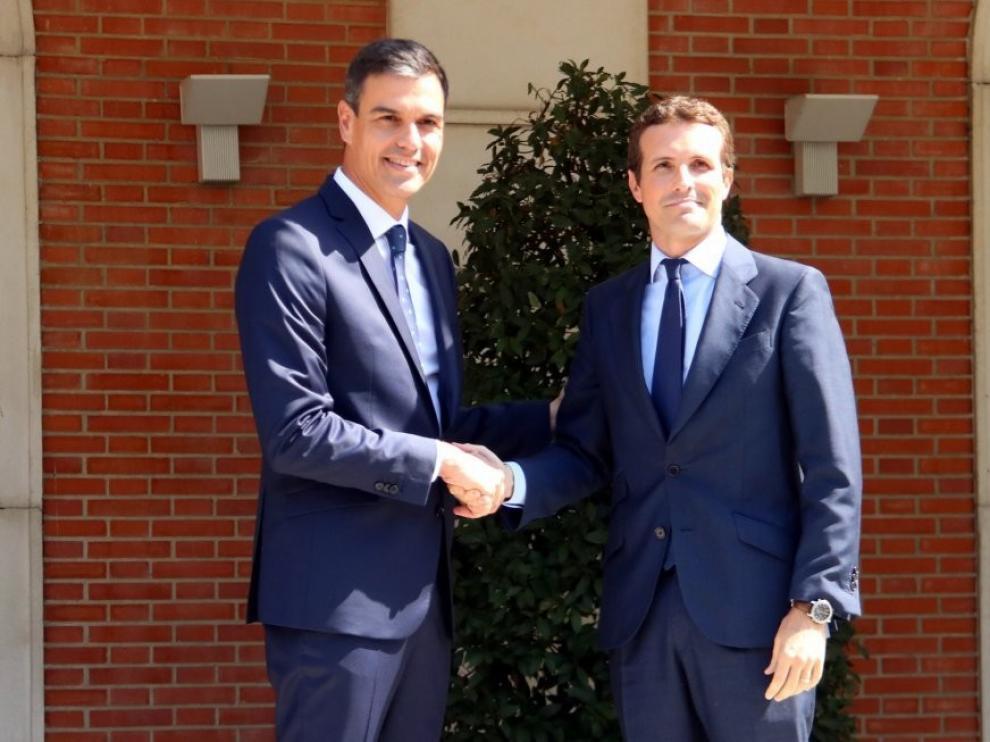 Nuevo encuentro entre Pedro Sánchez y Pablo Casado en la Moncloa