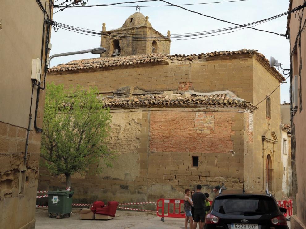 Técnicos de la Diócesis de Huesca conocen el estado de la iglesia de Barluenga