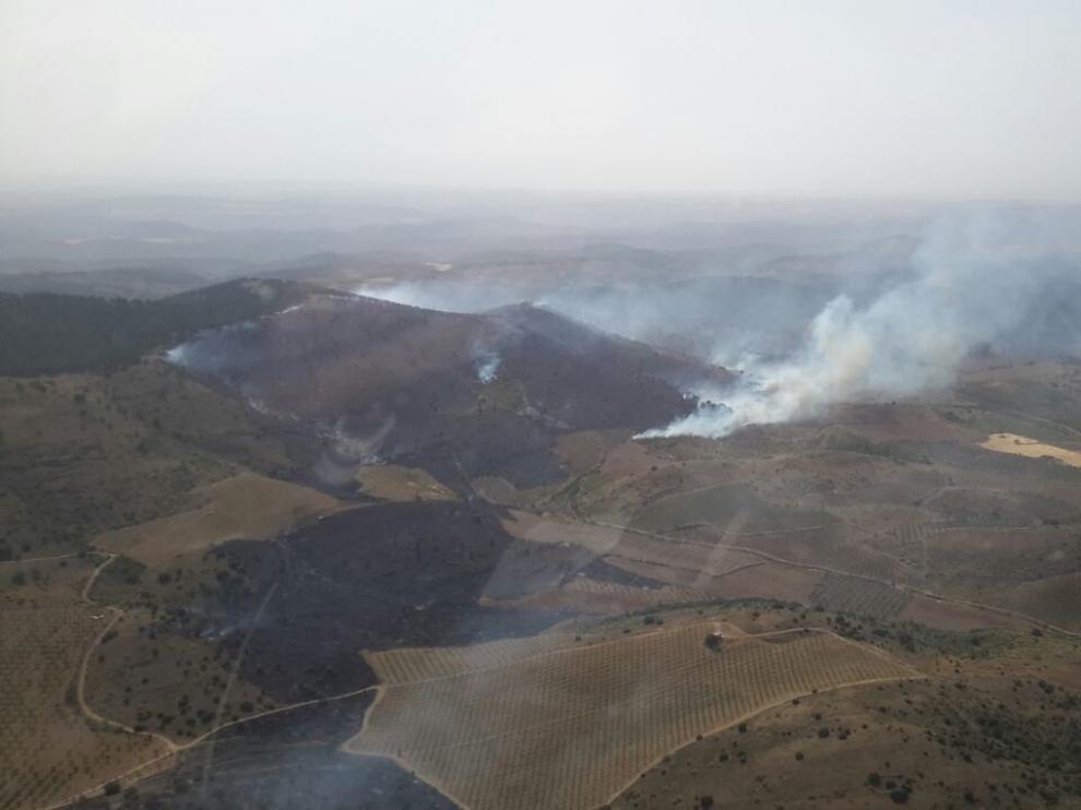 Estabilizado el incendio forestal de Castejón de Alarba