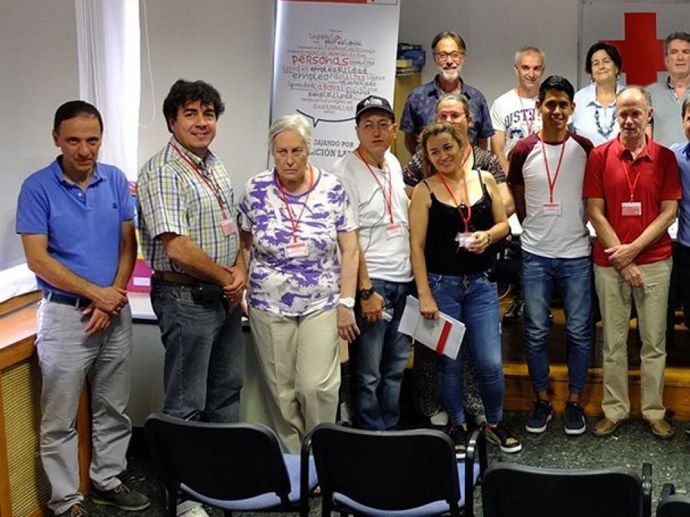 Los nuevos voluntarios de Cruz Roja Huesca son presentados