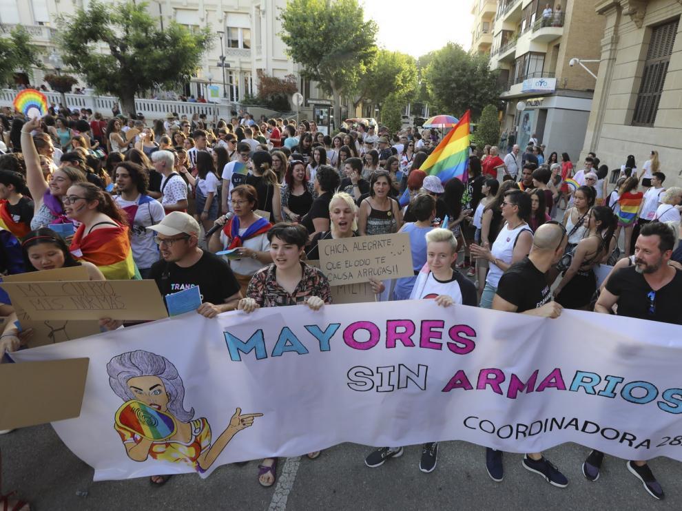 """El colectivo LGTBQI+ exige una Huesca """"más inclusiva"""""""