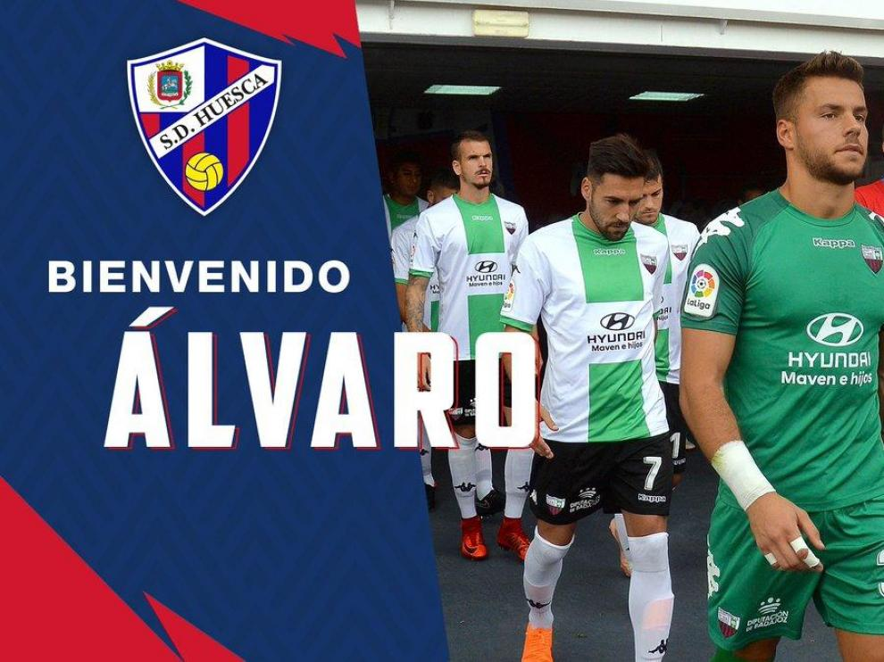 El guardameta Álvaro, primer fichaje del Huesca