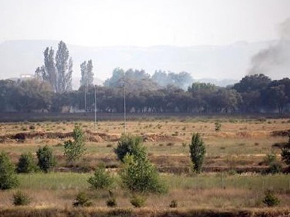 Los agricultores fueron los primeros en actuar en el incendio junto a Plhus