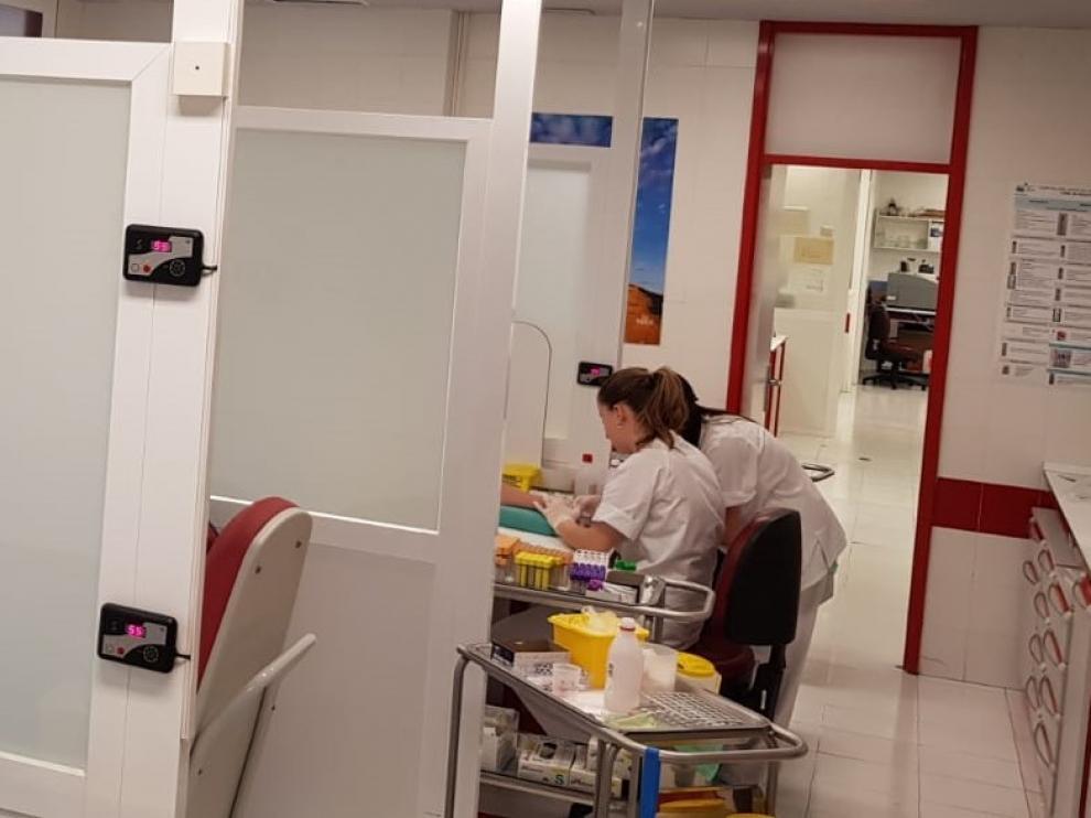 El servicio de extracciones del Hospital San Jorge de Huesca se prestará en la planta baja del edificio de administración