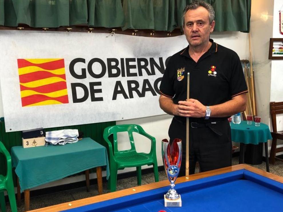 Carmelo Garcés se proclama campeón de Aragón de Billar y acumula ya 21 títulos