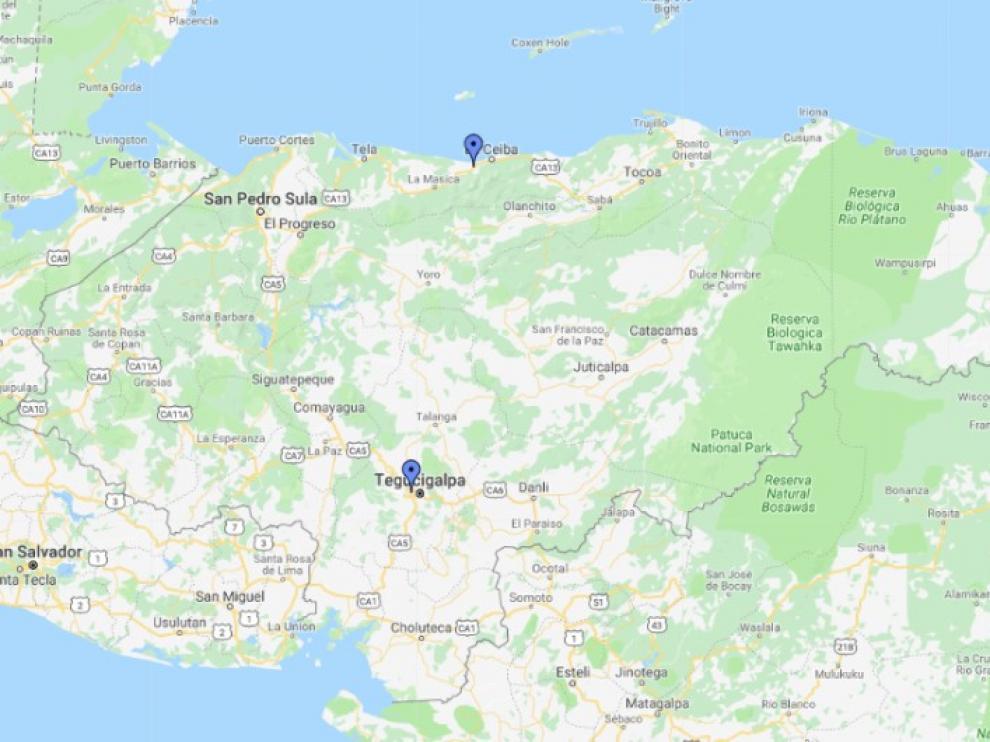 Al menos 27 muertos al naufragar una embarcación en el Caribe de Honduras