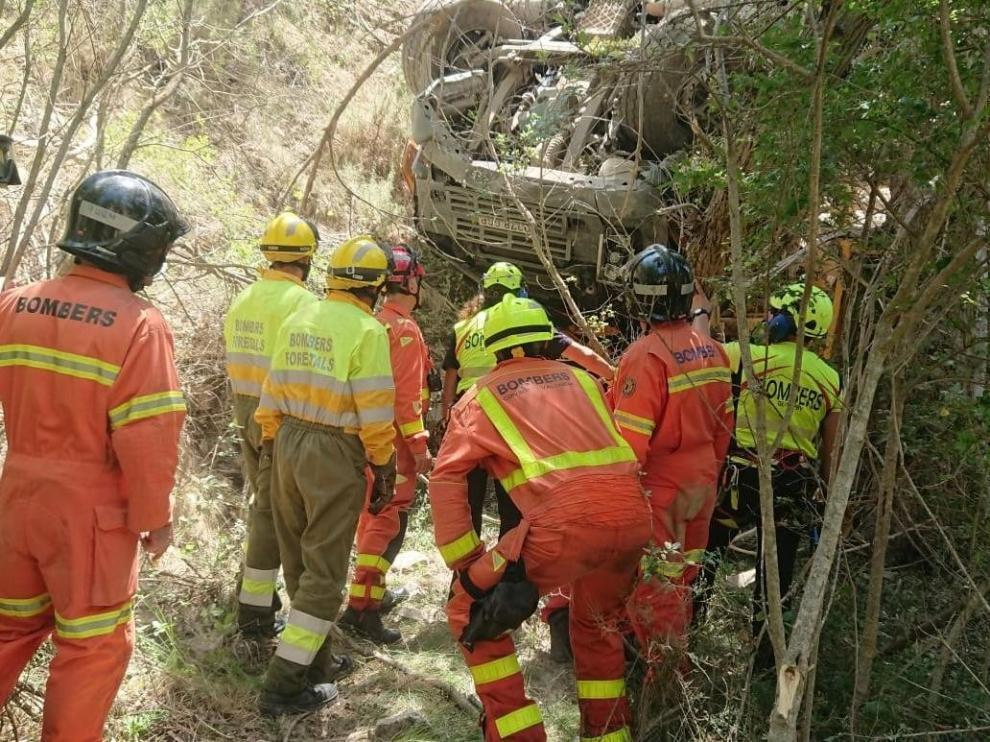 Dos operarios mueren tras un corrimiento de tierra en Valencia cerca de Teruel