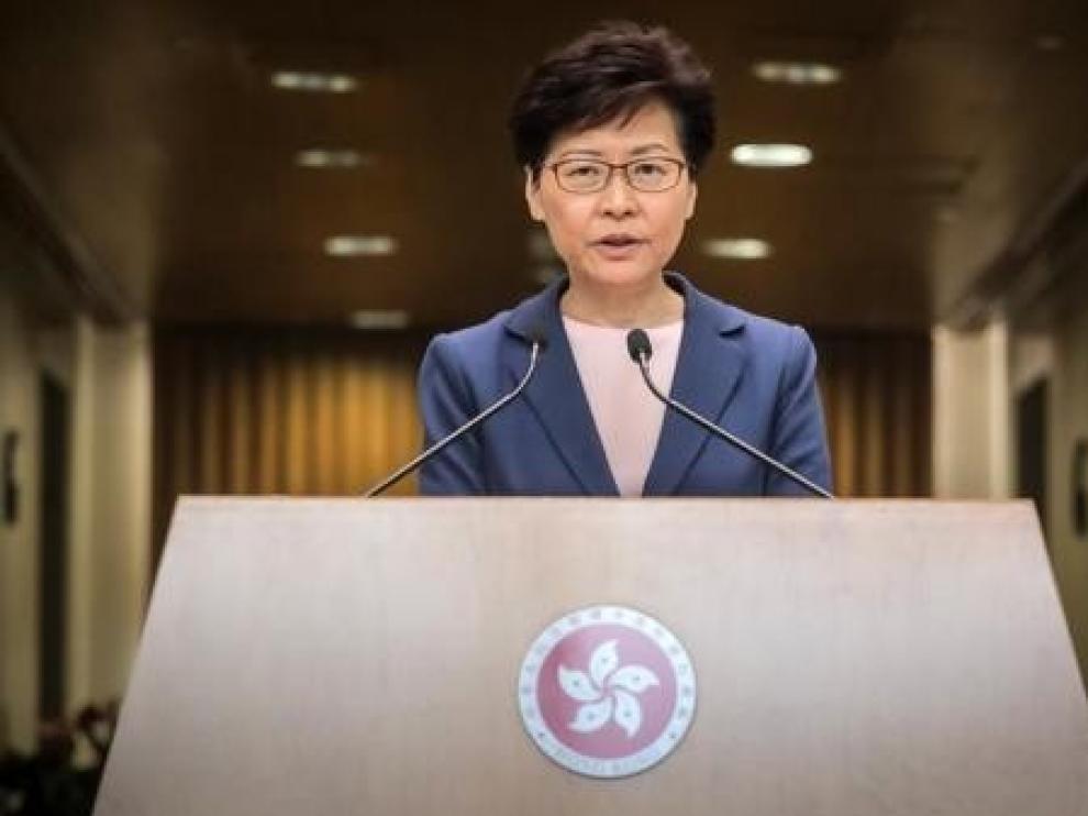 La Jefa del Gobierno de Hong Kong da por muerta la polémica ley de extradición