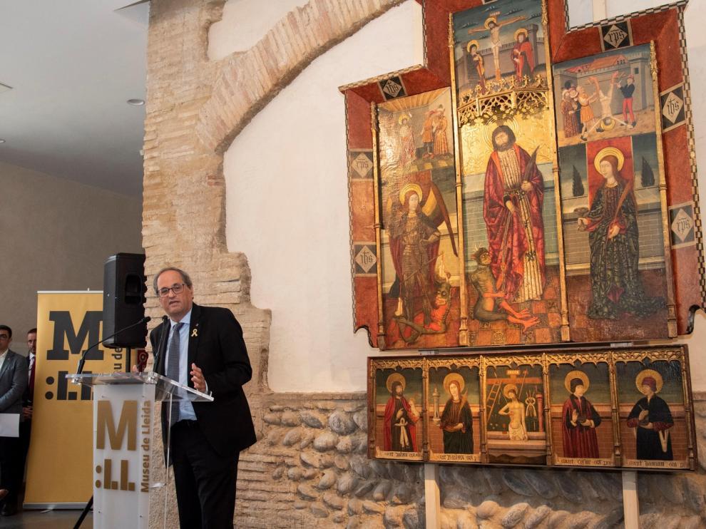 El Museo de Lérida expone desde este martes un retablo gótico aragonés