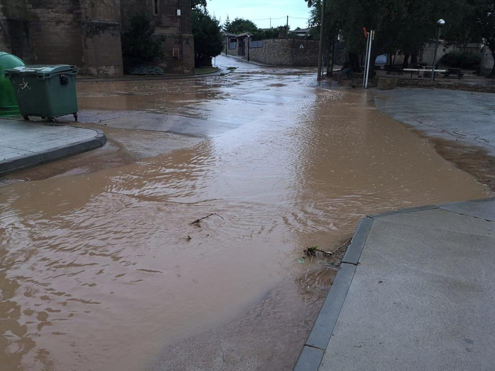 Las tormentas del lunes dejaron en Huesca 26 litros e incidencias leves