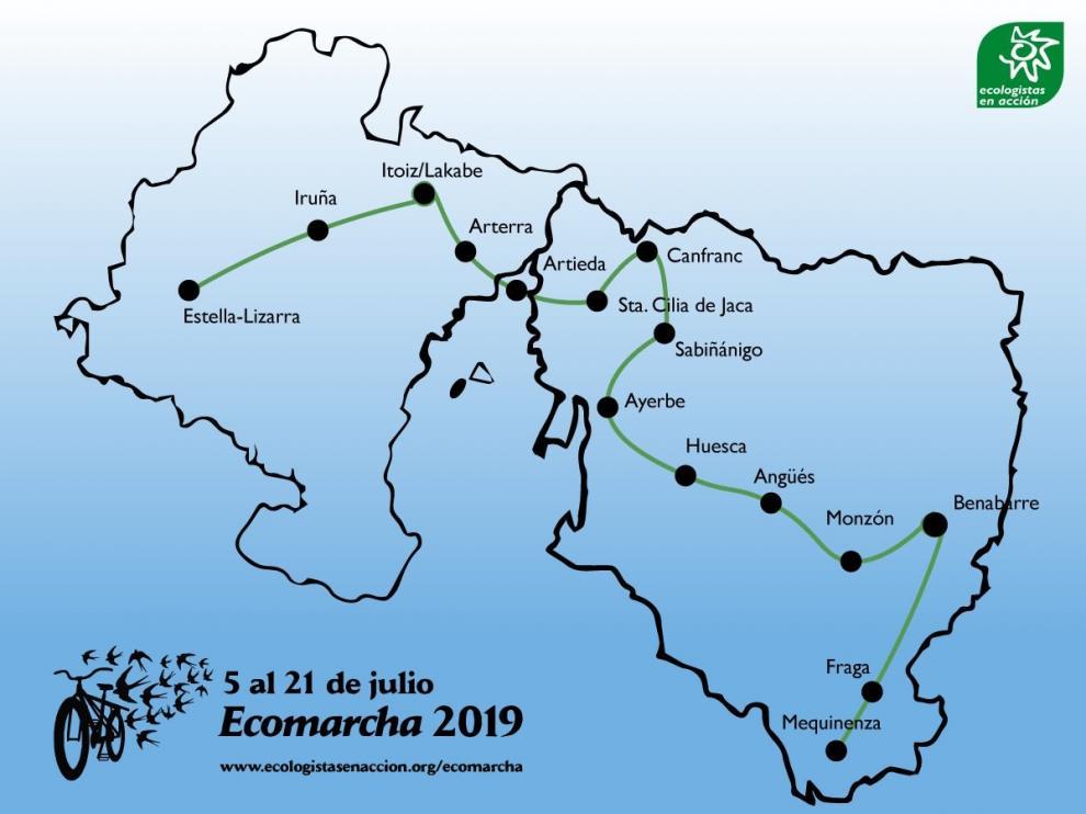 La marcha ciclista de Ecologistas en Acción llega este jueves a la Galliguera
