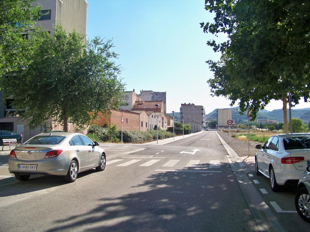 El Ayuntamiento de Fraga abre al tráfico el tramo nuevo de la calle Teruel