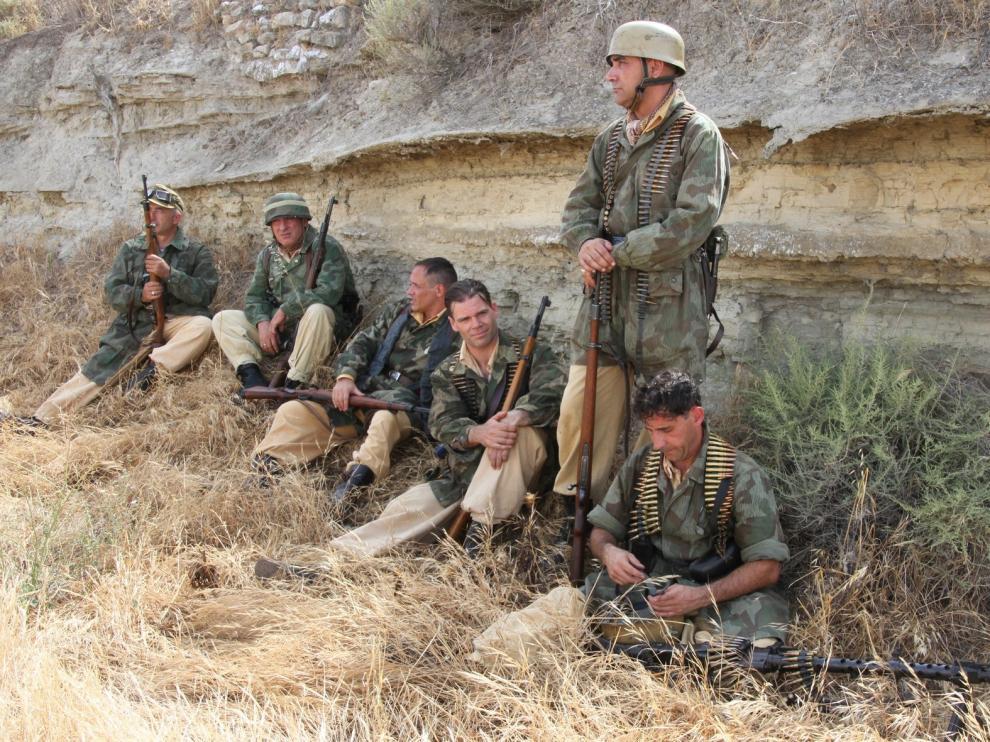 Éxito de la recreación de la Segunda Guerra Mundial en Alcubierre