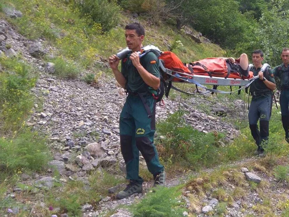 La Guardia Civil auxilia a 14 personas en cinco días en la provincia de Huesca