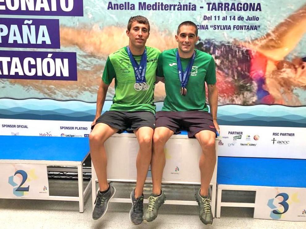 Cuatro platas y cuatro bronces para David Val y Francho Sanvicente