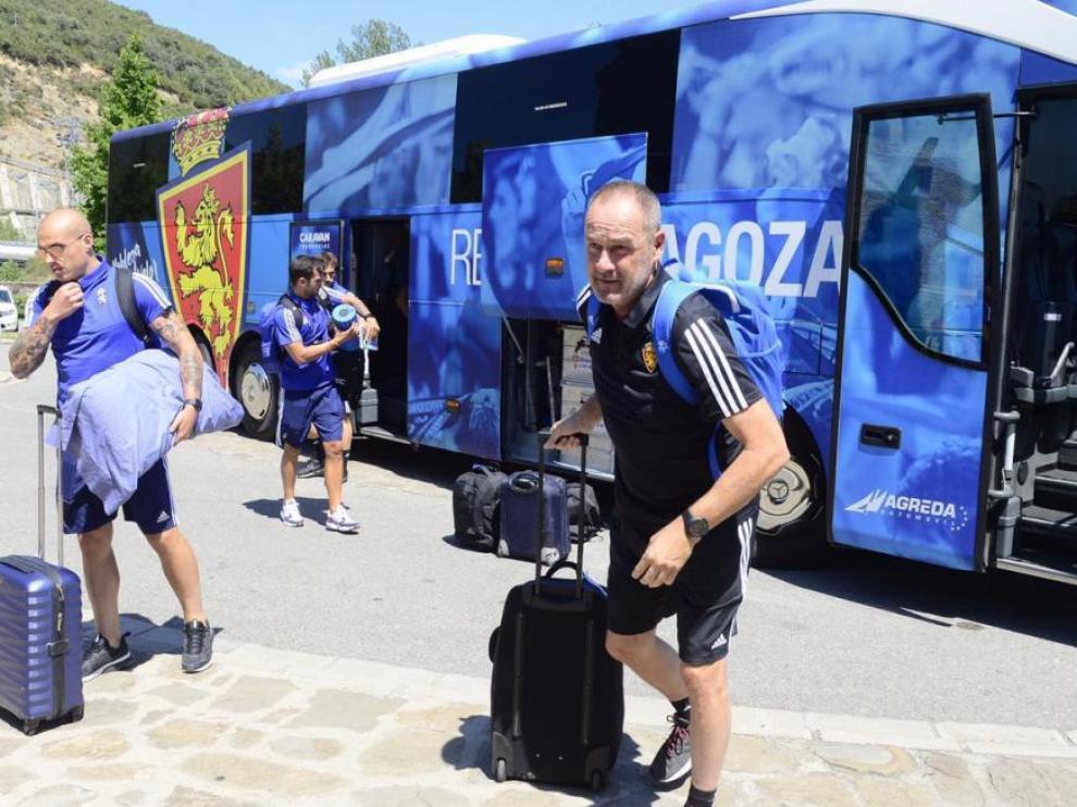 El Real Zaragoza inicia en Boltaña su concentración de pretemporada