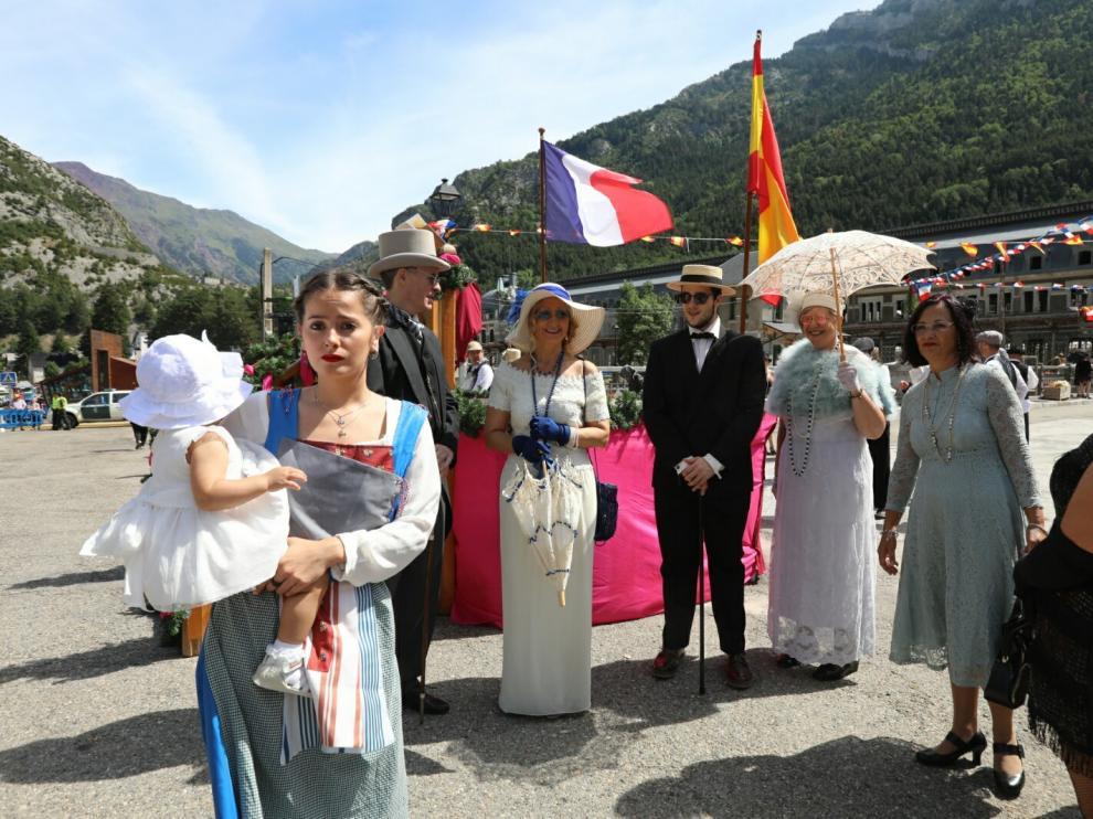 La recreación de la inauguración de la estación internacional de Canfranc, Fiesta de Interés Turístico de Aragón