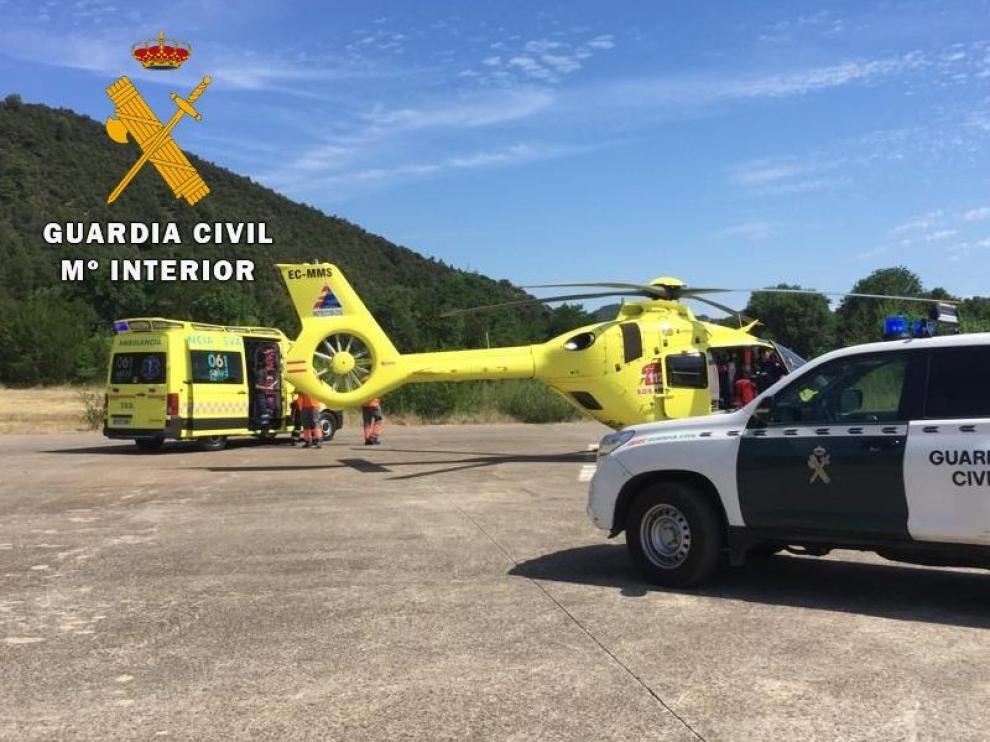 La Guardia Civil suma siete nuevos rescates en tres días en la provincia de Huesca