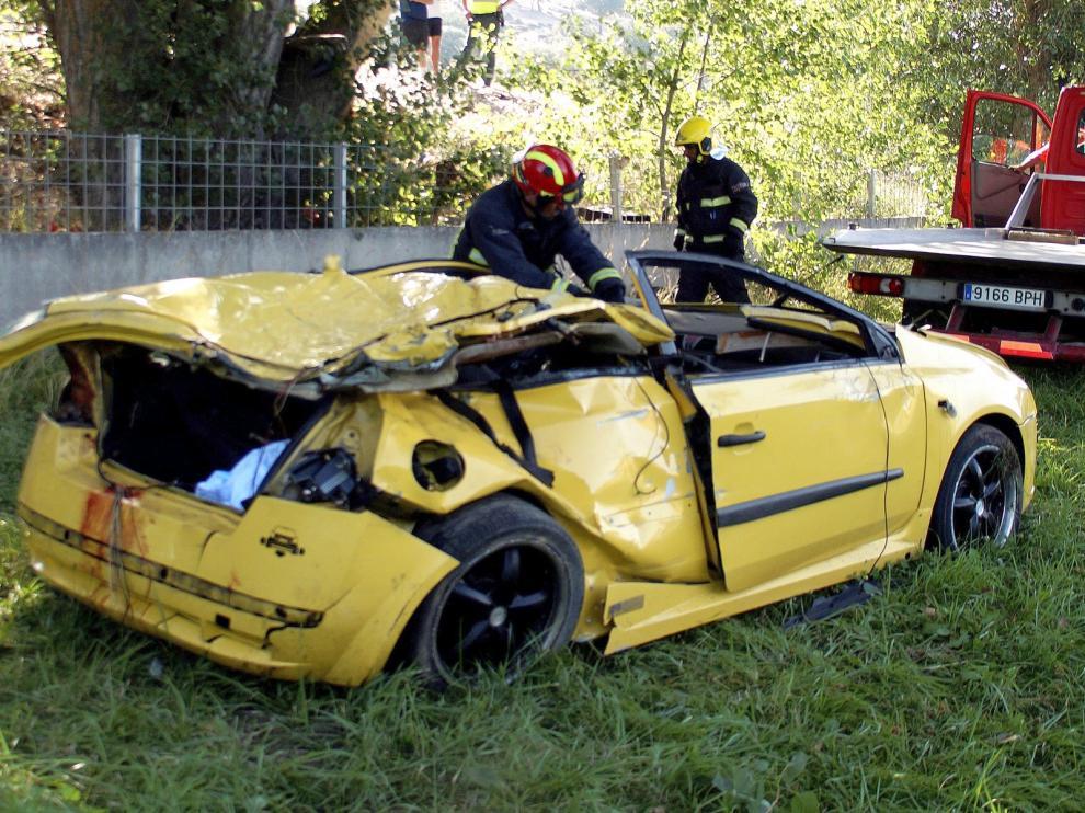 Cuatro jóvenes mueren en un accidente en Salamanca