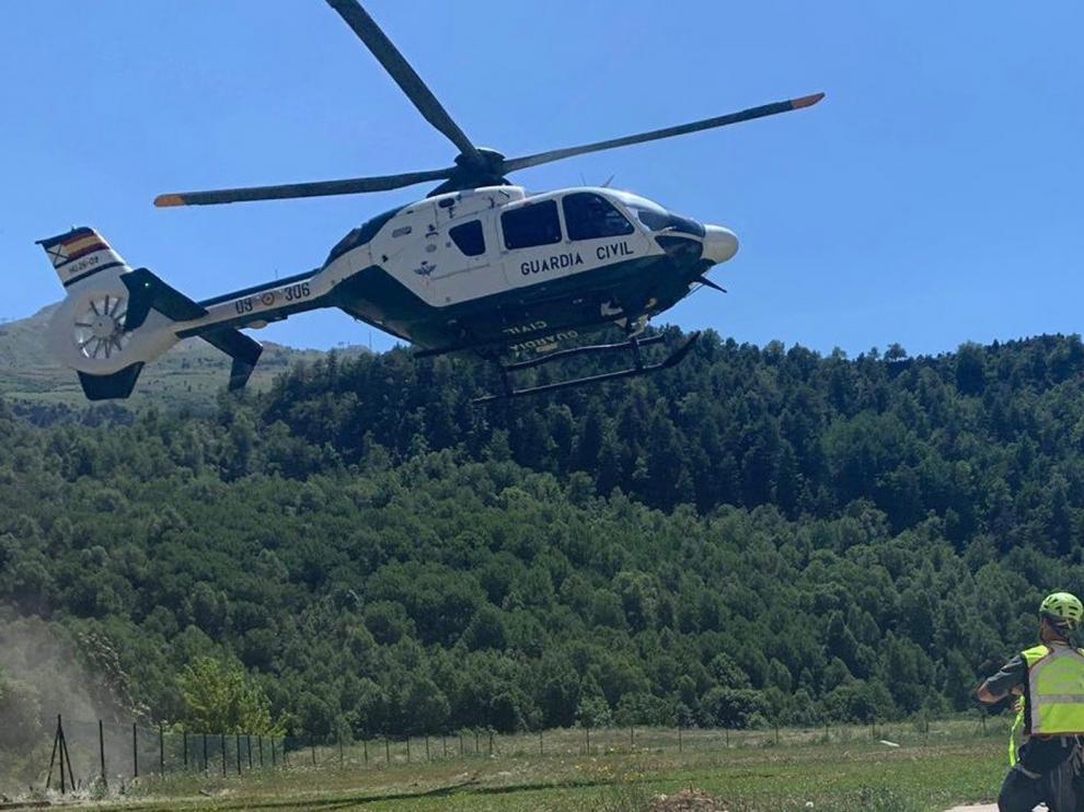 La Guardia Civil rescata a once personas este fin de semana en el Pirineo oscense