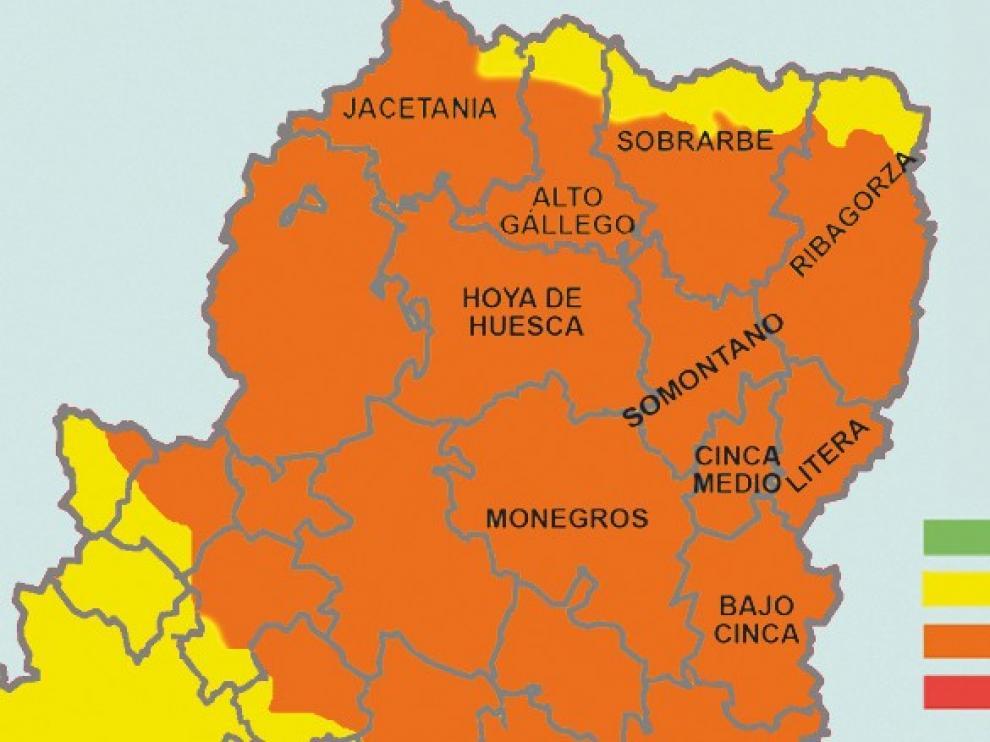 La ola de calor eleva el riesgo de incendios en la provincia de Huesca
