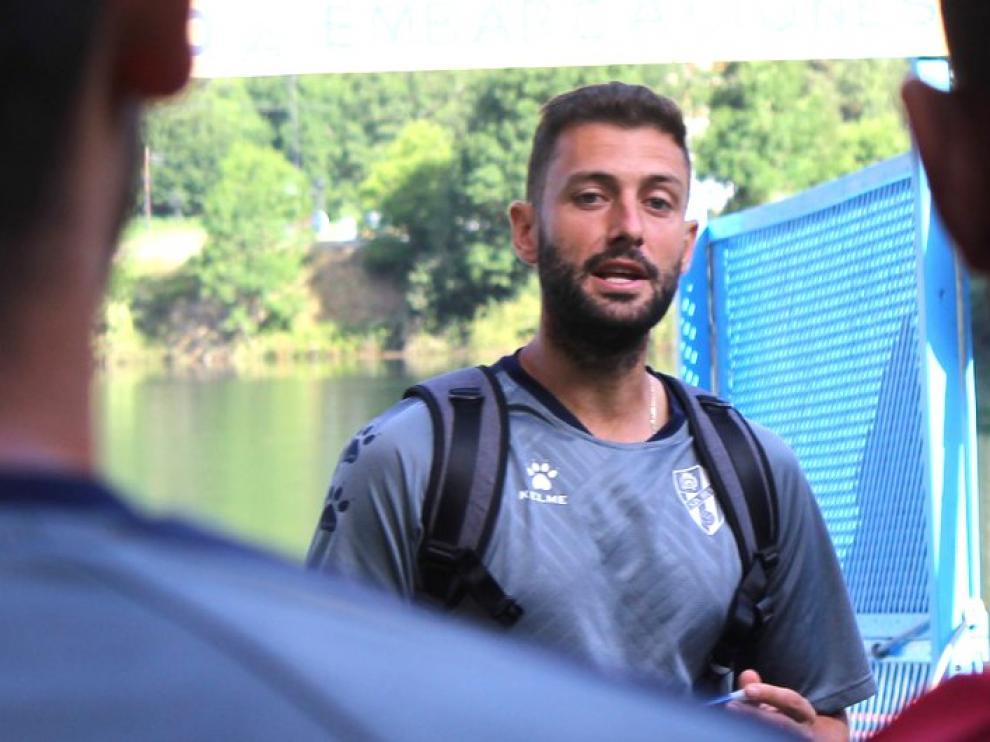 """David Porcel destaca la """"buena predisposición"""" de los jugadores"""