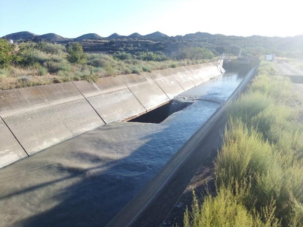 La rotura del Canal en Tamarite deja sin riego a 20.000 hectáreas en la zona