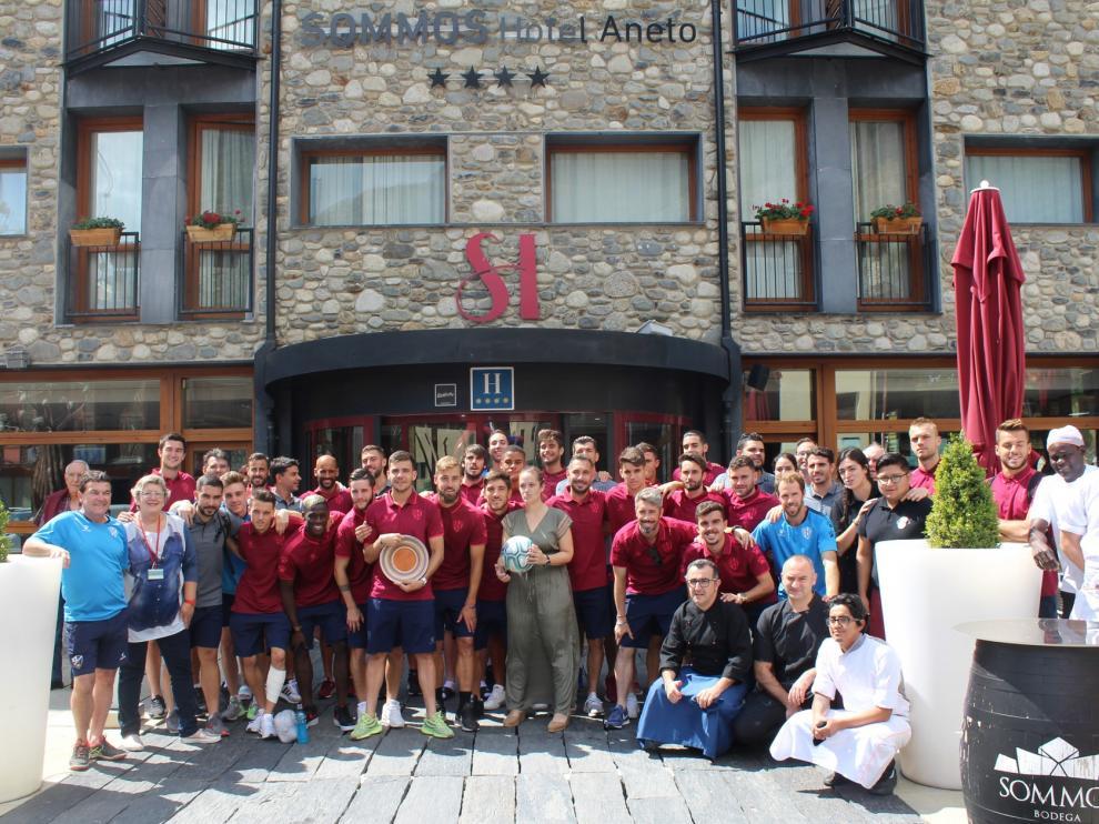 El Huesca pone punto y final a su concentración en Benasque