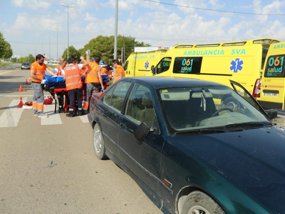 Atropellada una mujer en un paso de cebra de Martínez de Velasco en Huesca