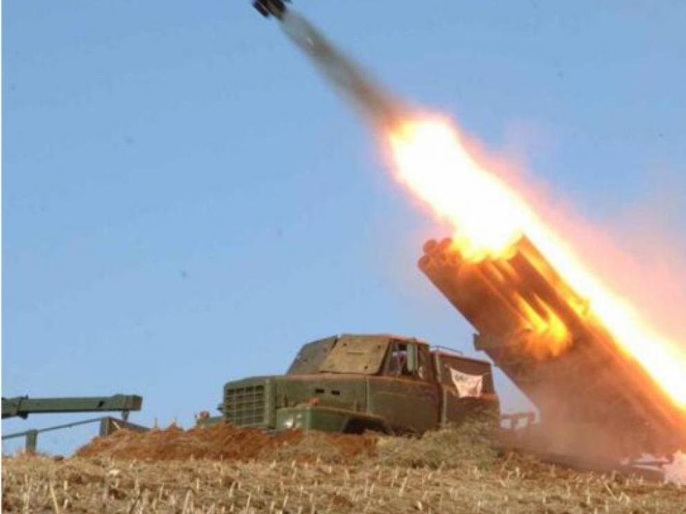 Nuevo lanzamiento de proyectiles de prueba desde Corea del Norte
