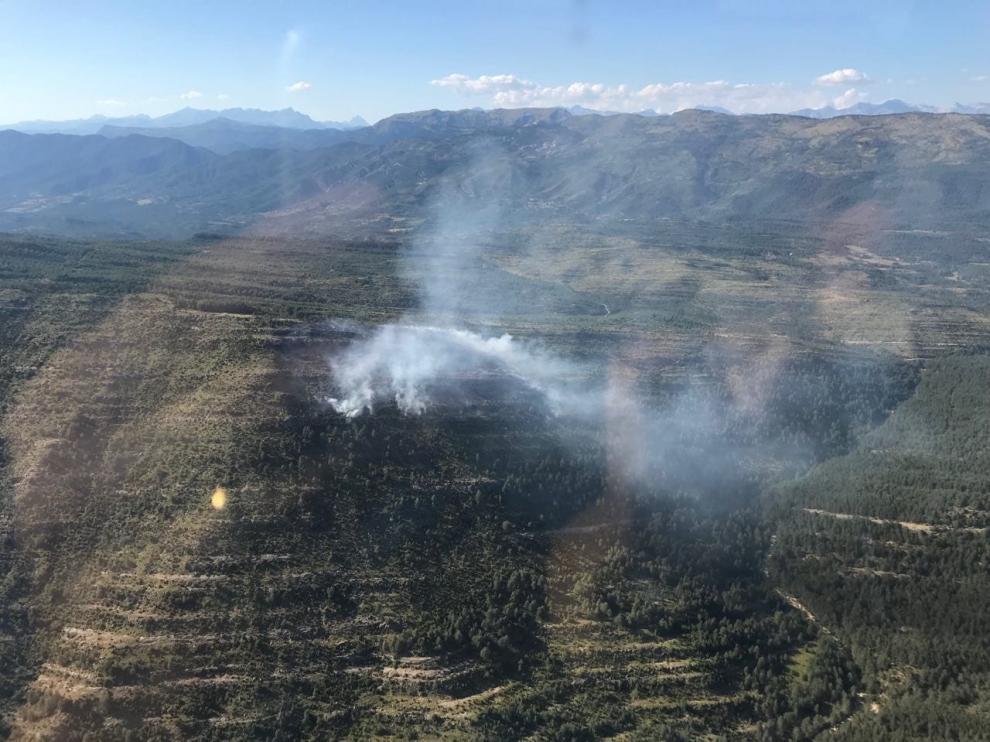 Controlado el incendio forestal declarado en la Guarguera