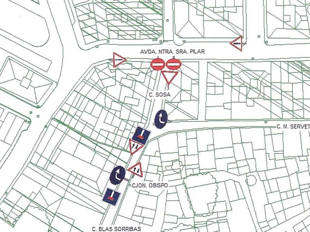 Cambio puntual en el sentido de circulación de la calle Sosa de Monzón