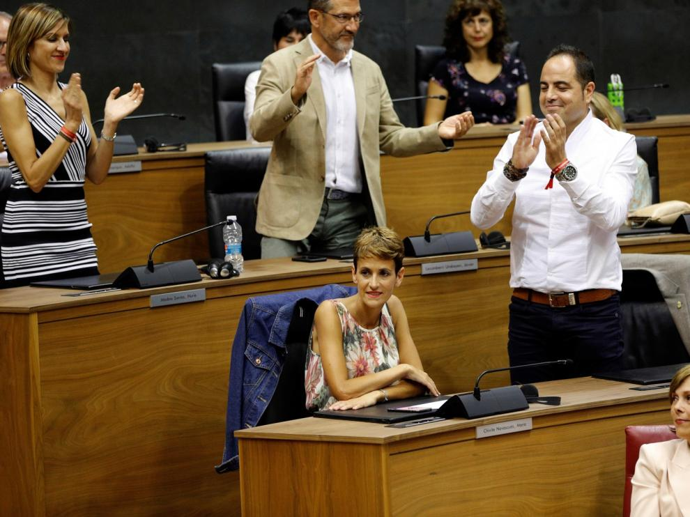 La abstención de Bildu hace presidenta a Chivite
