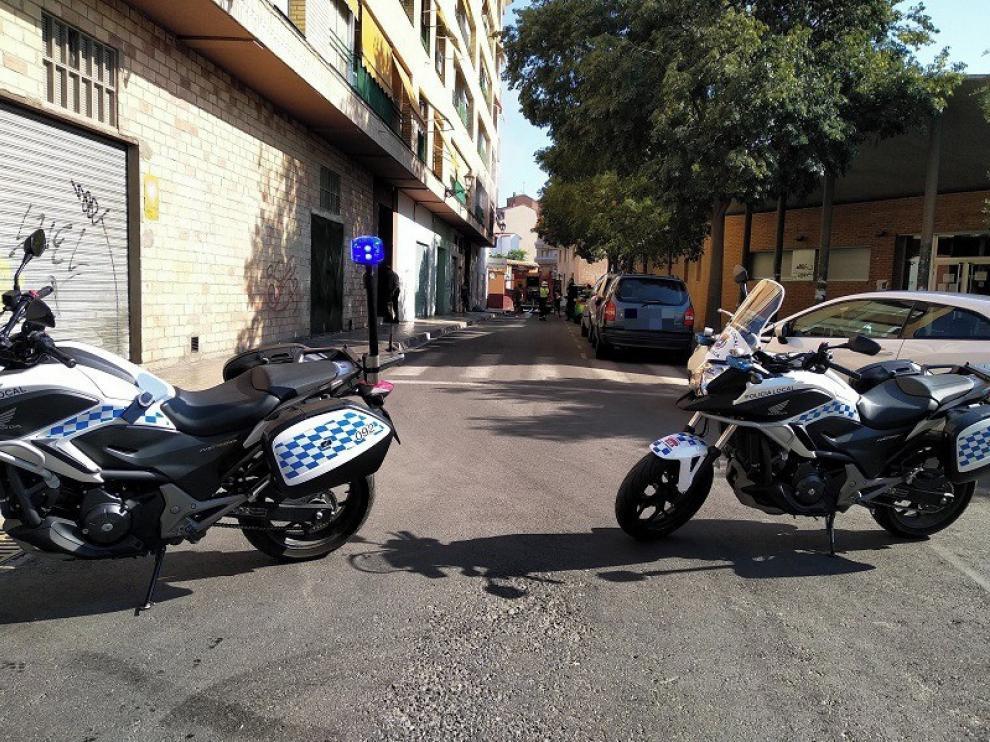 Incendio en un piso en la calle Obispo Ram de Huesca