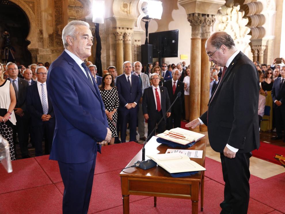 "Lambán se compromete a construir Aragón como ""un proyecto común"""
