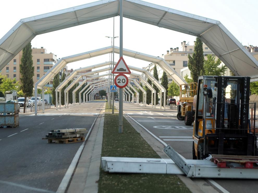 La avenida Monegros tendrá hasta 80 puestos