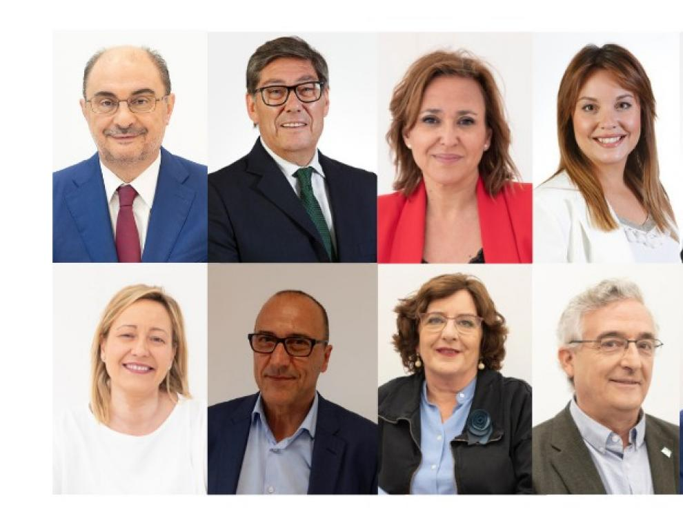 Aliaga, Pérez Anadón y Maru Díaz se estrenan en el Gobierno de Javier Lambán