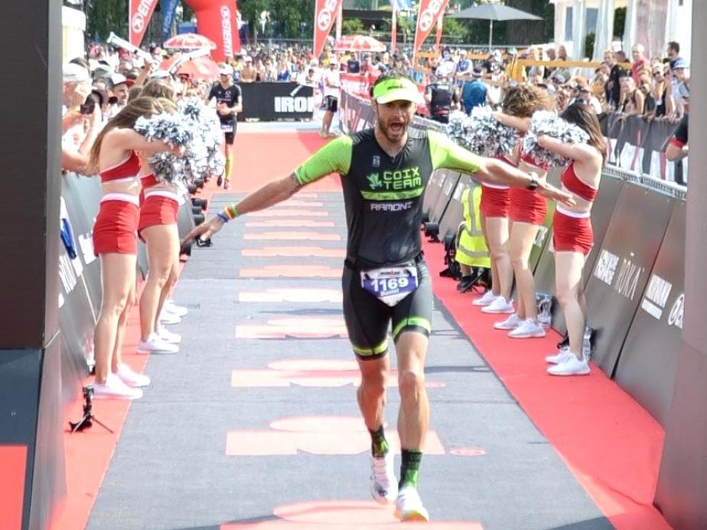Buen papel del serrablés Dani Ramón Hernández en el Ironman de Zurich