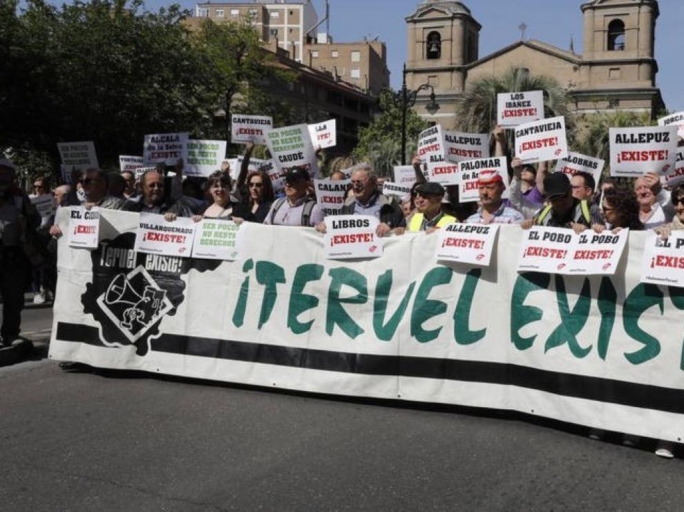 Teruel Existe pide a Sánchez inversión en políticas contra la despoblación