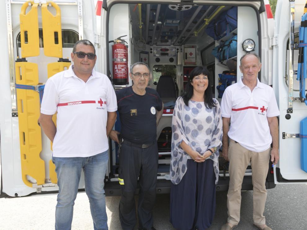 Cruz Roja habilita un dispositivo de 50 voluntarios y 7 ambulancias para las Fiestas de San Lorenzo