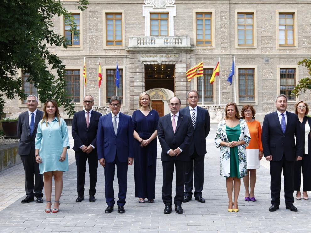 Lambán apela a la ejemplaridad de un gobierno diverso y comprometido con Aragón