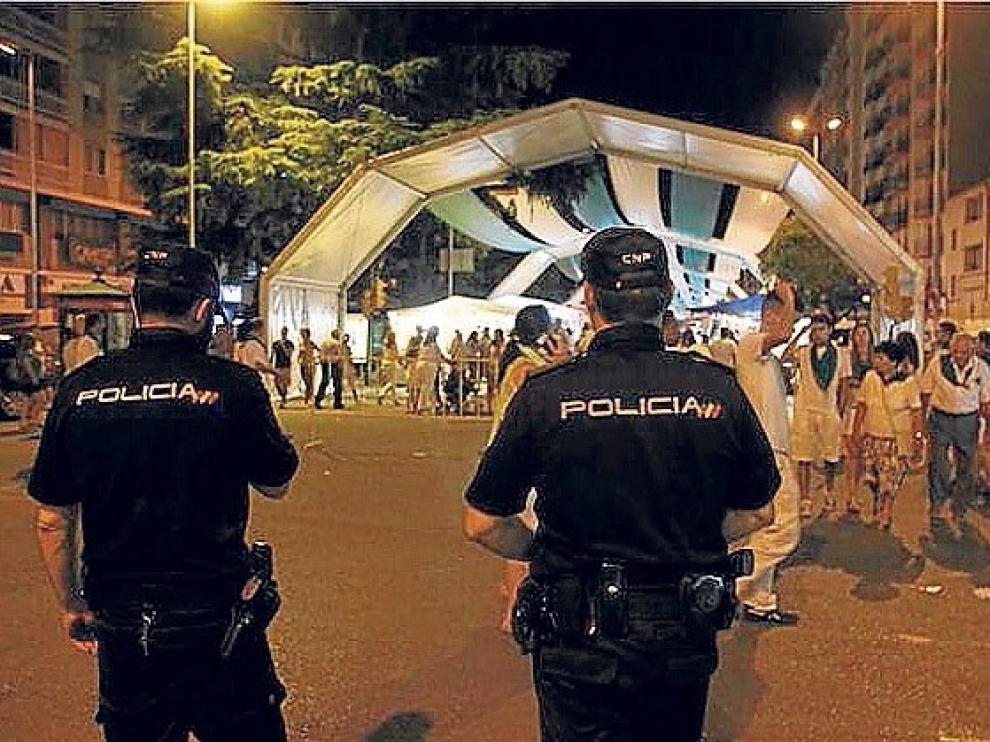 La Policía Nacional refuerza sus efectivos en las jornadas laurentinas