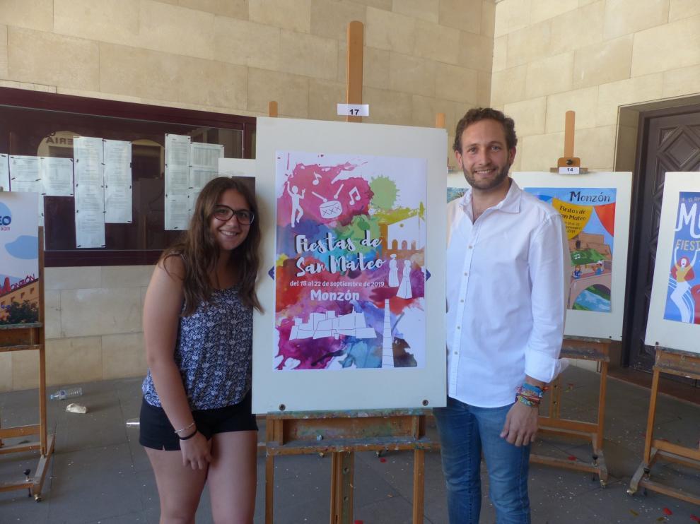 La joven Marina Broto gana el concurso del cartel de las fiestas de San Mateo de Monzón