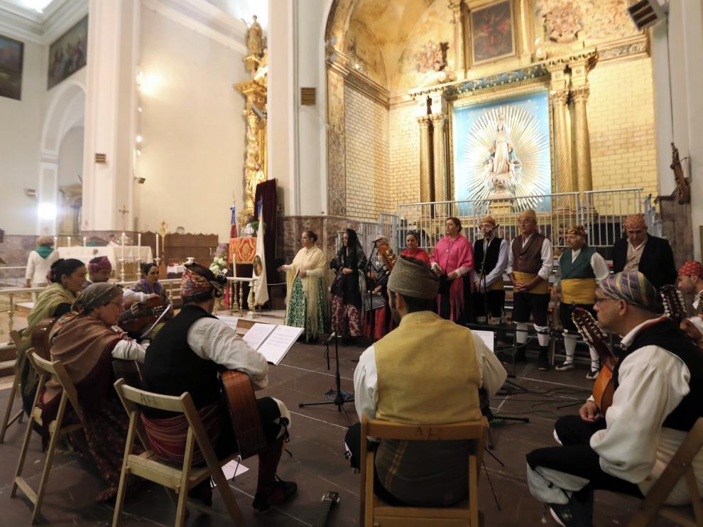 Devoción laurentina en la misa de la Cofradía, con brillo de Santa Cecilia