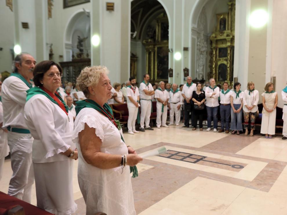 África Moyano, nueva priora de la Real Cofradía de San Lorenzo de Huesca