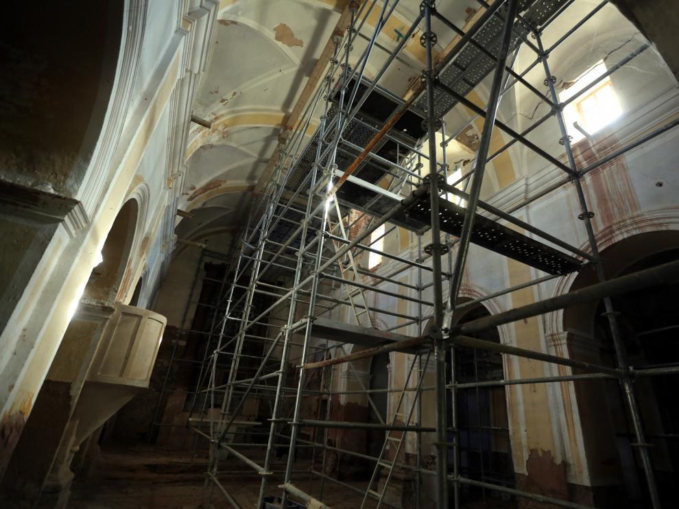 La restauración de la iglesia de Castilsabás se iniciará en menos de dos meses