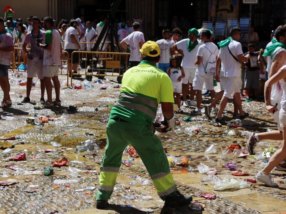 Más de 182 toneladas de residuos recogidas en los tres primeros días de San Lorenzo 2019