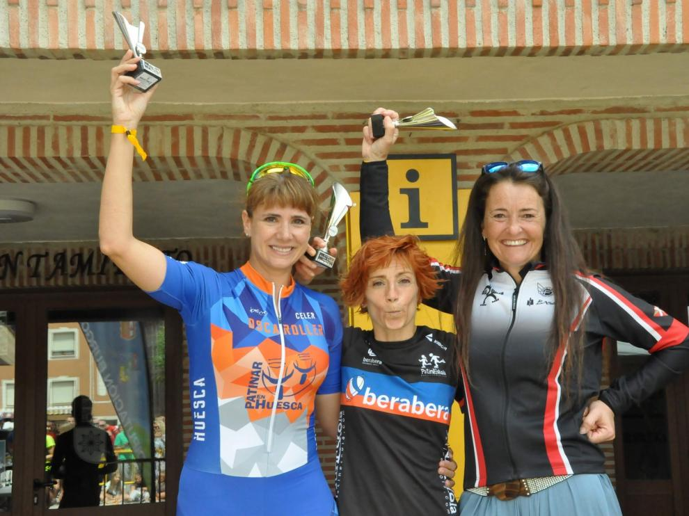 Podio de Carolina Mairal en el V Trofeo Villa de Belorado