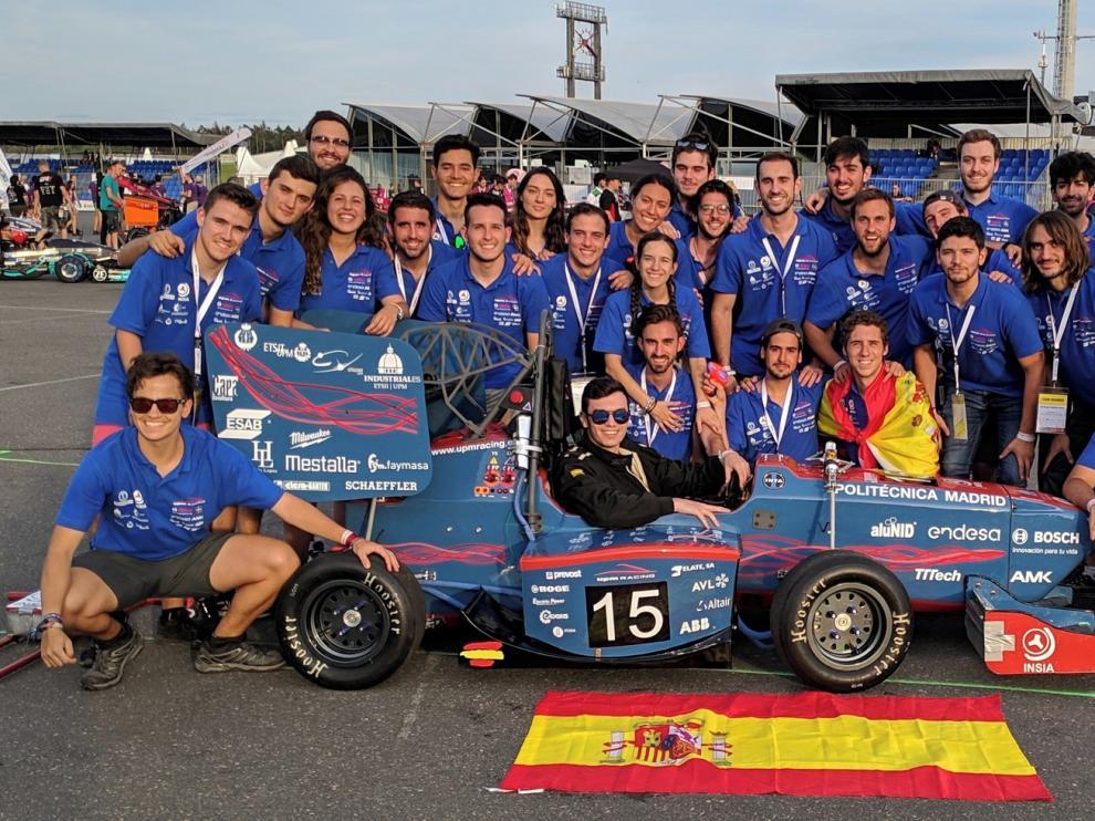 Un oscense, en la Fórmula 1 estudiantil